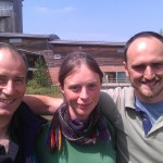 3/4 of R2L2: Richard Hesketh, Liz Mackley and Richard Smith at Slimbridge