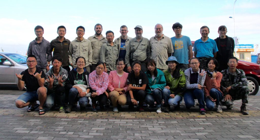 Spoon-billed Sandpiper catching and tagging team at Yangkou on 6 Oct 2016