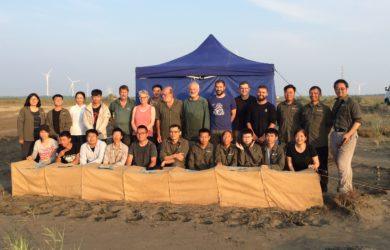 Jiangsu survey and catching team, next to our ringing base camp, September 2018.