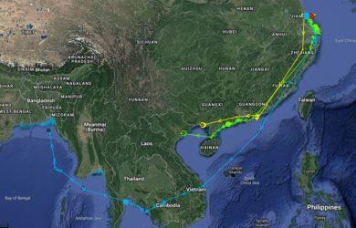 Spoonie satellite tagging locations, 24 November 2019