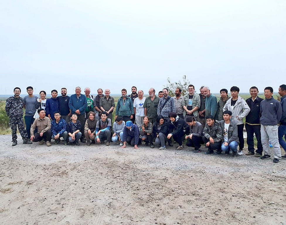 The catching team after processing and ringing 602 waders at Tiaozini. Photo by Kane Brides WWT